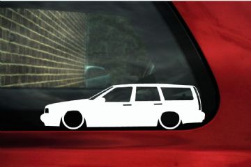 2x LOW Volvo 850 Turbo estate wagon lowered outline stickers